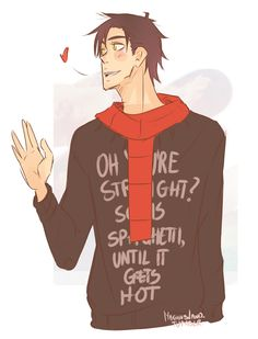 That sweater, good lord. xD Magnus