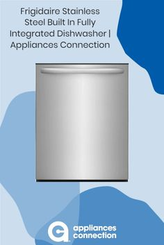 """The 24"""" Energy Star Certified Built-In Dishwasher from Frigidaire will be the best addition to your place. The OrbitClean Spray Arm ensures thorough cleaning sessions. You can set your dishwasher to run up to 6 hours in the future. Available at AppliancesConnection Fully Integrated Dishwasher, Built In Dishwasher, Volt Ampere, Energy Star, Place Settings, Arm, Kitchen Appliances, Stainless Steel, Cleaning"""