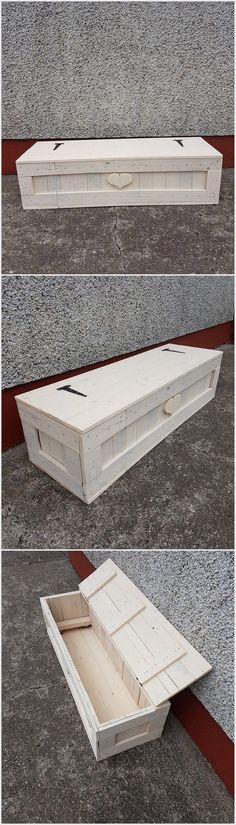 This wood pallet recycling idea is blend of the storage case or you can even grab it for taking advantage of it as a box. You can use this wooden pallet storage box/chest for storing your footwear or your stationary products. Paint it with colorful shades of colors to make it appear attractive looking.
