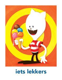 Borre dagritmekaart 'iets lekkers'. Plaatjes in hogere kwaliteit zijn te downloaden en printen vanaf www.borre.nl. Klik daar op 'Doen'.
