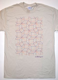 ba90a5dac31b Items similar to Modern Contemporary Abstract Geometric Pattern Graphic  Design Sand/Beige T-Shirt on Etsy