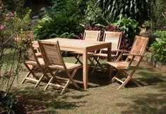 """Outdoor Teak Chairs - The teak chairs for your wedding are a perfect choice for such a special day. Did you know that the teak material is known as """"the queen of the woods"""" among the experts? Garden Furniture Sale, Teak Outdoor Furniture, Furniture Stores, Wood Furniture, Furniture Ideas, Garden Loungers, Shabby Chic Table And Chairs, Teak Wood, Patio"""