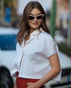 . Celebrity Style Inspiration, Celeb Style, Grace Elizabeth, Guess Girl, Sub Brands, Brunette Beauty, Candid, Ruffle Blouse, Victoria