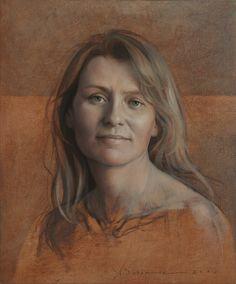Aldo Baraonde, Retrato de Loreto 38x46 - óleo-cartón-tabla - 2007-2