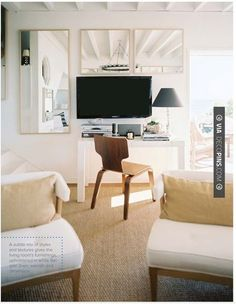Wow! - mirrors + monitor/screen // home office | CHECK OUT MORE FIREPLACE IDEAS AT DECOPINS.COM | #homeoffice #office #home #officedecor