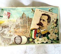 Antique Trade Card Clarks Thread Trade Card 1887 by mybonvivant