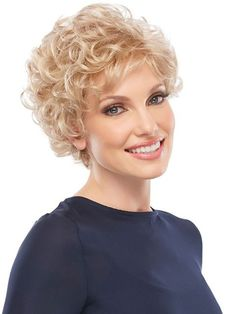 Short soft hair style with curls