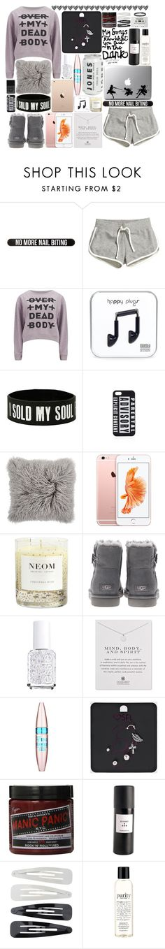 """""""Just got back from school"""" by piksist ❤ liked on Polyvore featuring moda, Bershka, H&M, Cheap Monday, UNIF, NEOM Organics, UGG Australia, Essie, Dogeared e Maybelline"""