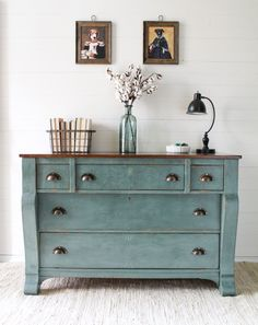 Im skipping ahead to this recent empire dresser we did for our master bedroom, simply because I have found a new love for milk paint. I used to dread using milk paint just because of the complexity and uncontrollability. But I'll be the first to admit that I thought ALL milk paints were the same....Continue Reading