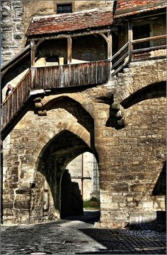 Medieval town wall (detail) Rothenburg ob der Tauber - Germany