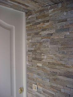 P. Bernardos Plaqueta con acabado laja MINILAJA PIZARRA CUARCITA Barra Bar, Kitchen Wall Tiles, Wall Cladding, Hardwood Floors, Diy Crafts, Home Decor, Ideas, Ladder, Patio Roof