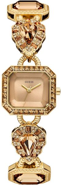 Guess Watch Womens Crystalaccent Goldtone Bracelet 23x25mm in Gold (No Color) | Lyst