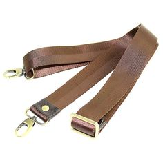 1 PCS 150cm / 59 inch Black / Tan Adjustable Shoulder Strap, Reinforcement Extended High Density Nylon Strap