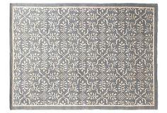 9'x12' Tibetan Weave Rug, Light Blue on OneKingsLane.com.  floors should be (reminiscent) wood, sand or water, imho