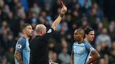 Fernandinho Gets Four-Game Ban    Manchester City midfielder Fernandinho will serve a four-match suspension after his claim of wrongful dismissal was rejected by the Football Association. The Brazil international was shown a straight red card by referee Lee Mason in the 32nd minute for a reckless challenge on Burnley midfielder Johann Gudmundsson duringCity's 2-1 win at the Etihad on Monday.  His suspension includes the standard sanction of an additional match as it was his second Premier…