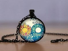 Hey, I found this really awesome Etsy listing at https://www.etsy.com/listing/220031948/sun-moon-ying-yang-black-fashion-jewelry