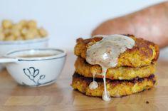 Sweet Potato Chickpea Burgers - yum. — jessconnolly.com