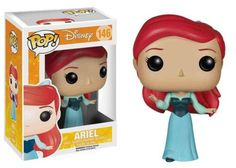 There you see her…sitting there across the way. Let Ariel be a part of your world! Wearing the blue dress from her site-seeing adventure with Prince Eric, The Little Mermaid Ariel Blue Dress Pop! Vinyl Figure is perfect for every Disney collection. This Little Mermaid measures approximately 3 3/4-inches tall. #funko #collectible #popvinyl #actionfigure #toy #disney #Ariel