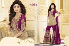 Style: Churidar SuitWork: Embroidered, Resham Work Fabric: Net