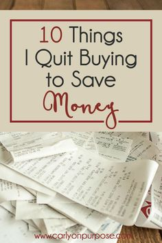 10 Things I Quit Buying (to Save Money) - Finance tips, saving money, budgeting planner Living On A Budget, Frugal Living Tips, Frugal Tips, Debt Free Living, Frugal Meals, Budget Meals, Ways To Save Money, Money Tips, Money Saving Tips