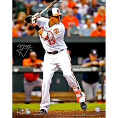 "Manny Machado Baltimore Orioles Fanatics Authentic Autographed 16"" x 20"" White Vertical Hitting Photograph - $127.99"