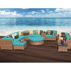 Miseno LAGUNA-12a-ARUBA 12-Piece Outdoor Furniture Set with Ottoman