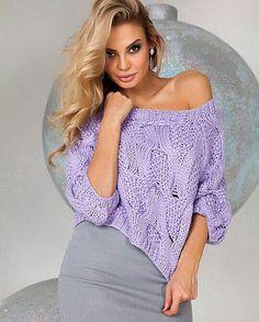 """Модный пуловер связанный спицами арановым узором. Пуловер объемным узором """"Лягушки"""""""