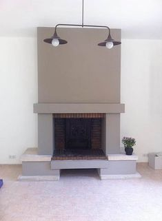 Fireplace after modernization: Modern style living room by Sarah Archi In & # - Traditional Fireplace, Modern Fireplace, Fireplace Design, Fireplace Mantels, Fireplaces, Fireplace Drawing, Style Lounge, Moroccan Decor, Wall Treatments