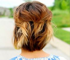 Pinned Back Short Ombre Waves