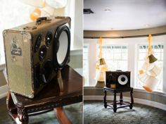 Lawyers in Love - Styled Wedding Shoot  // Event Design & Styling by Harmony Creative Studio, Vintage Suitcase Audio Systems by Hi-Fi Luggage @ The Victorian, Santa Monica CA. Photo by Meghan Christine Photography