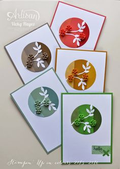 A look at the new Stampin' Up in colours for 2015 and how they compare to current colours - Vicky Hayes