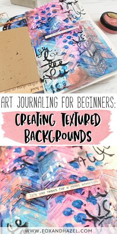 Create a vibrant and textured art journal page following this post of step-by-step art journal techniques! Using gorgeous products from DecoArt, this tutorial is great for art journaling beginners and novices alike.