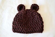 All Things Bright and Beautiful: Newborn Bear Beanie Pattern