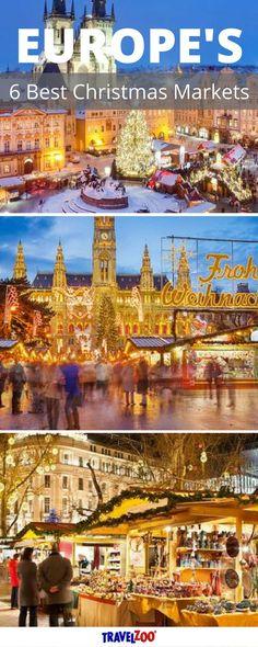 Europe's 6 Best Christmas Markets including France, Czech Republic, Austria, Hungary, Sweden and Germany. Click here for the best travel deals  http://www.travelzoo.com/blog/europes-6-best-christmas-markets/?utm_source=_Pinterest&utm_medium=social&utm_campaign=XmasMarkets&source=_pinterest   Budget Travel