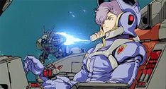 It seems redundant to re-make a gif with over 12,000 notes, but in honor of the 2KB gif limit here is a high-quality Dorel Ronah from Gundam F91 Original