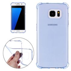 [USD1.33] [EUR1.19] [GBP0.95] Shock-resistant Cushion TPU Protective Case for Samsung Galaxy S7 Edge / G935(Blue)