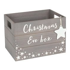 Buy 24 x Grey Christmas Eve Box wholesale at competitive trade prices. Wooden Christmas Eve Box, Personalised Christmas Eve Box, Retro Christmas, First Christmas, Diy Christmas Gifts, Christmas Decorations, Prim Christmas, Christmas Eve Box For Kids, Holiday Decorating