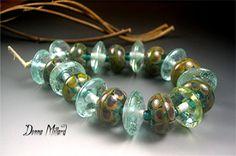 HANDMADE LAMPWORK Glass Beads SET Donna Millard by DonnaMillard, $105.00