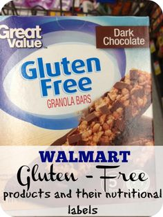 Walmart has a brand new gluten free food line. Here is the list of products and their nutritional labels.