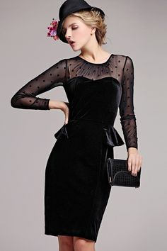 BLACK VELVET DRESS | Black velvet dresses | Pinterest | Black ...
