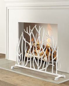 White Branch Fireplace Screen   Shared by Fireman's Finds