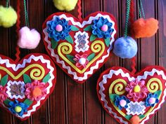 Folk style hearts tutorial | Made with Love by Hannah | Mollie Makes