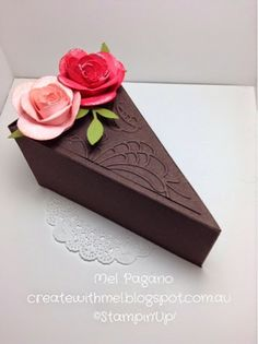 Petal Cone Die Cake Box. Stampin Up. From http://createwithmel.blogspot.com.au