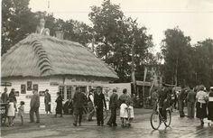 """Festyn w Parku Jordana - karczma """"Rzym"""", 1937 (wejść na stronkę i więcej fotek)"""
