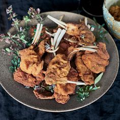 Lamb Chop Milanese with Sun-Dried Tomato Pesto // More Great Lamb Chop Recipes: http://www.foodandwine.com/slideshows/fast-lamb-chop-recipes #foodandwine