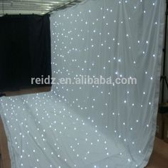 durable and beautiful white decorative led star curtain light for wedding ceremony