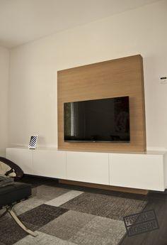 Mooi modern TV wandmeubel.