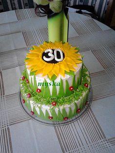 patrový se slunečnicí k 30. narozeninám