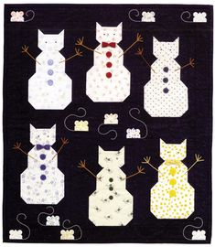 Cat snowmen, in: Christmas Cats and Dogs by Janet Kime - Martingale