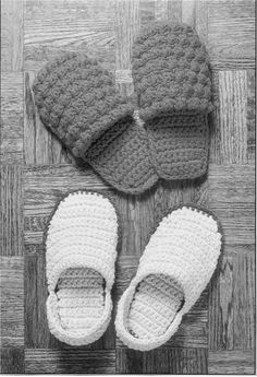 Crochet Pattern Slippers2 Pair for men and by winterolive on Etsy, $5.00